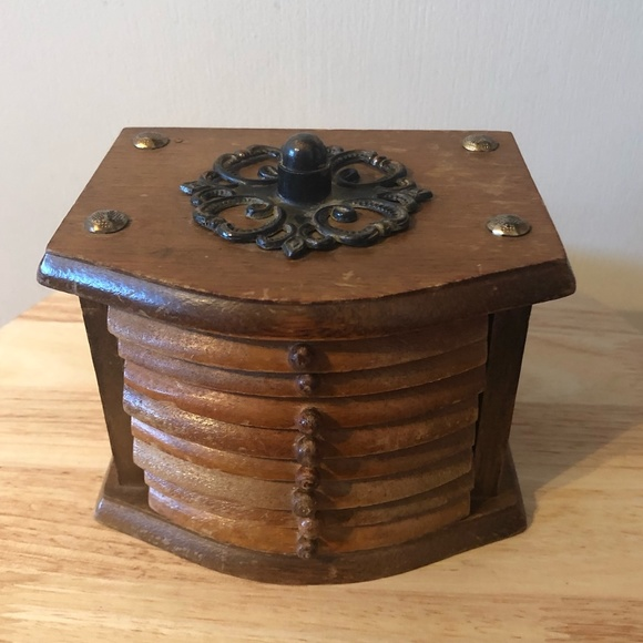 *3for$30* Set of 8 vintage wood and cork coasters